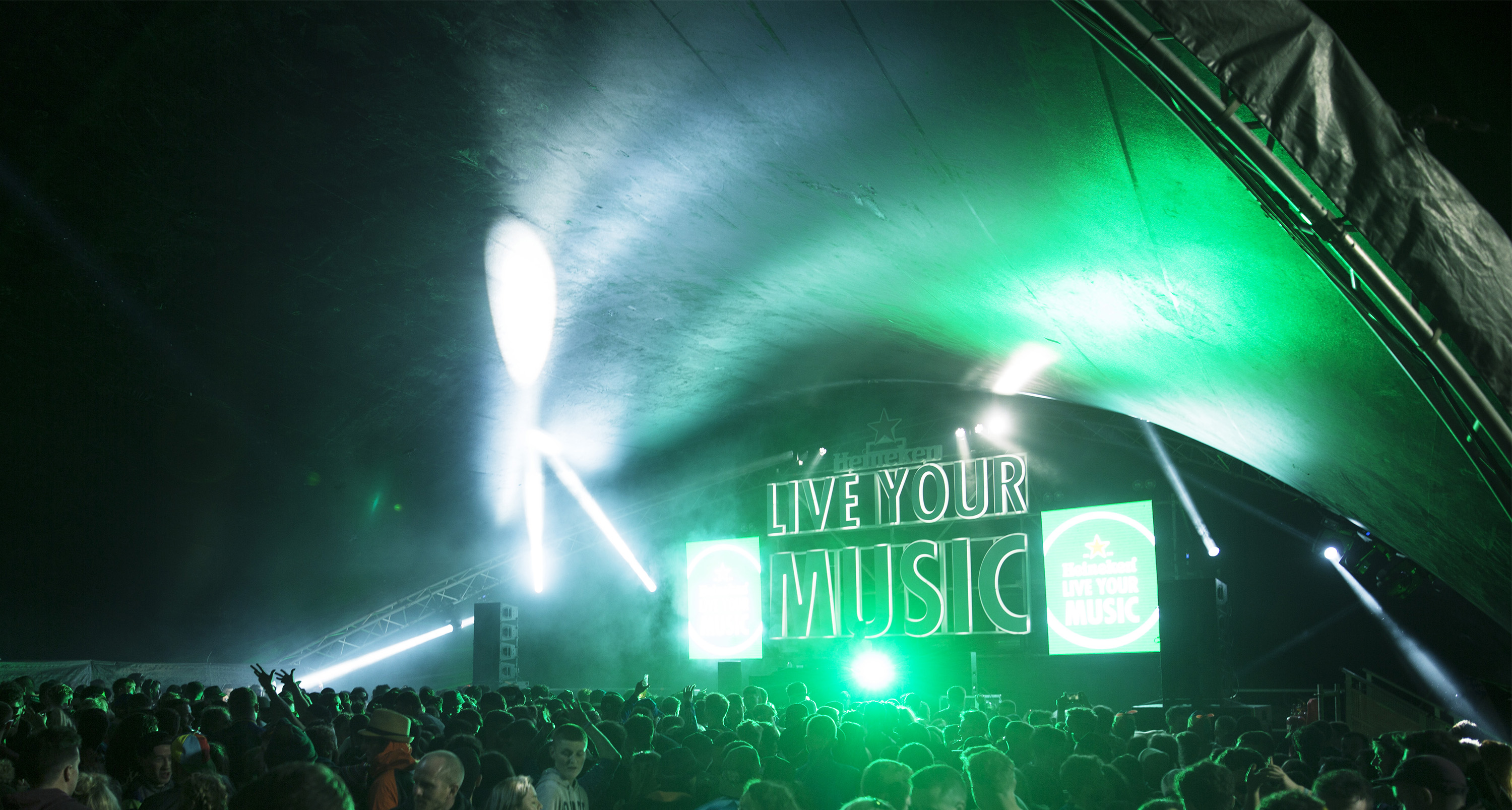 Heineken Live your music Crowd visual