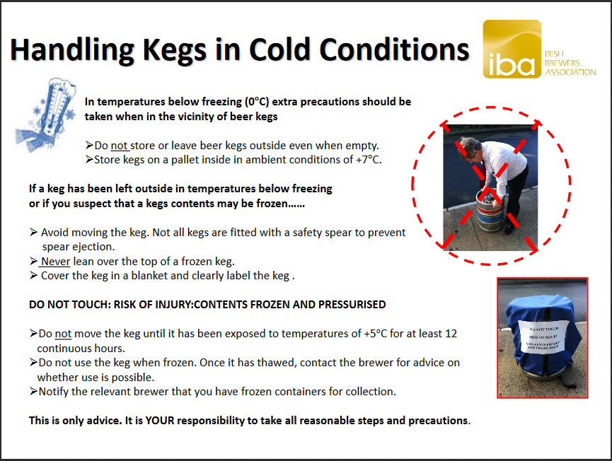 Handling Kegs in Cold Conditions